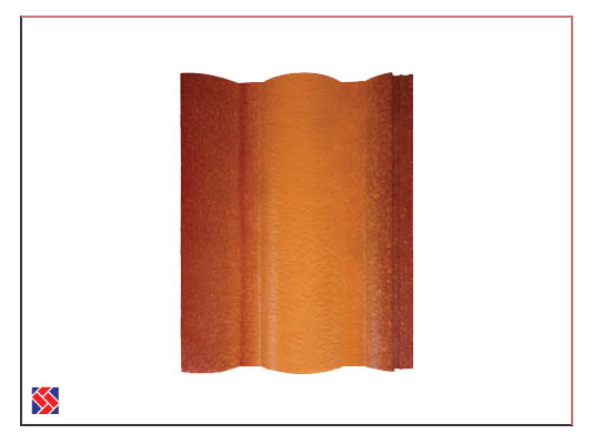 Russet-Gold-coloured roof concrete tiles in Kerala