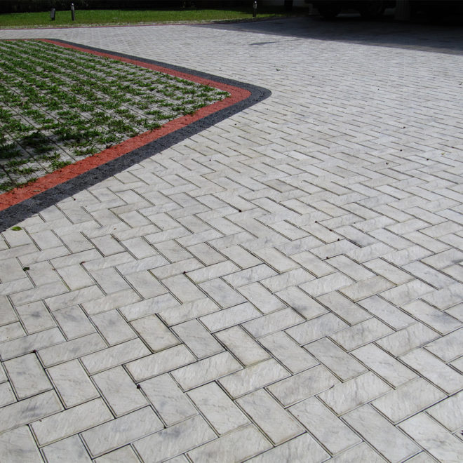 Laid out Sandstone paver
