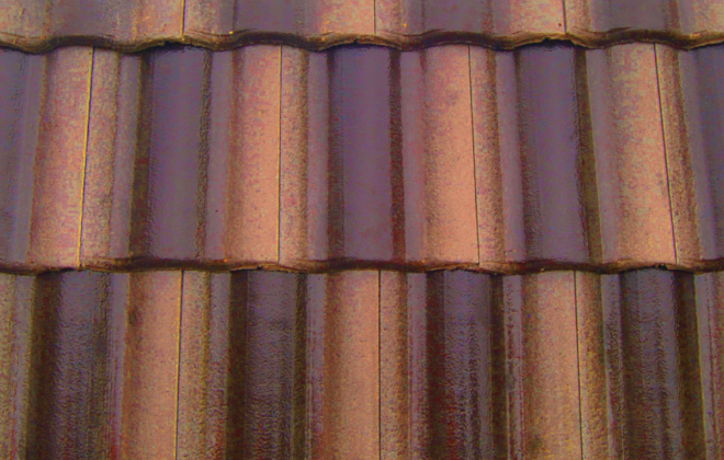 Terra brown roof tile