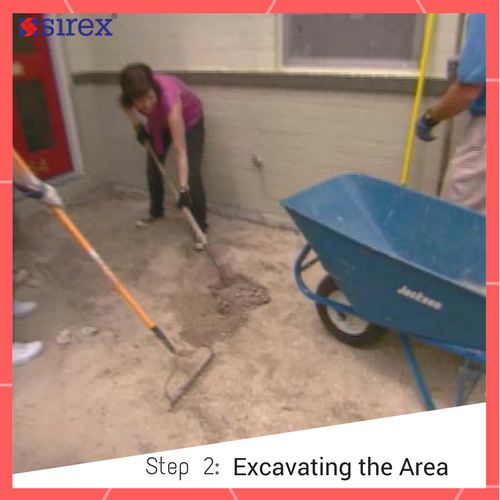 How to Lay Pavers: Excavating the Area