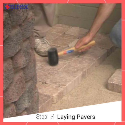 How to Lay Pavers: Laying Pavers