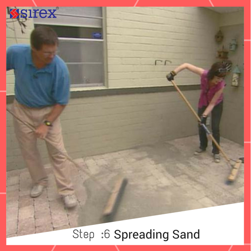 How to Lay Pavers: Spreading Sand