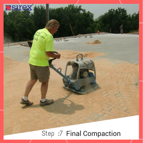 How to Lay Pavers: Final Compaction