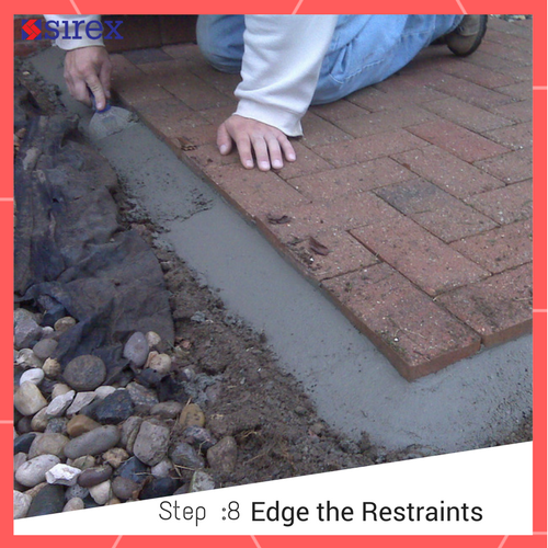 How to Lay Pavers: Edge the Restraints